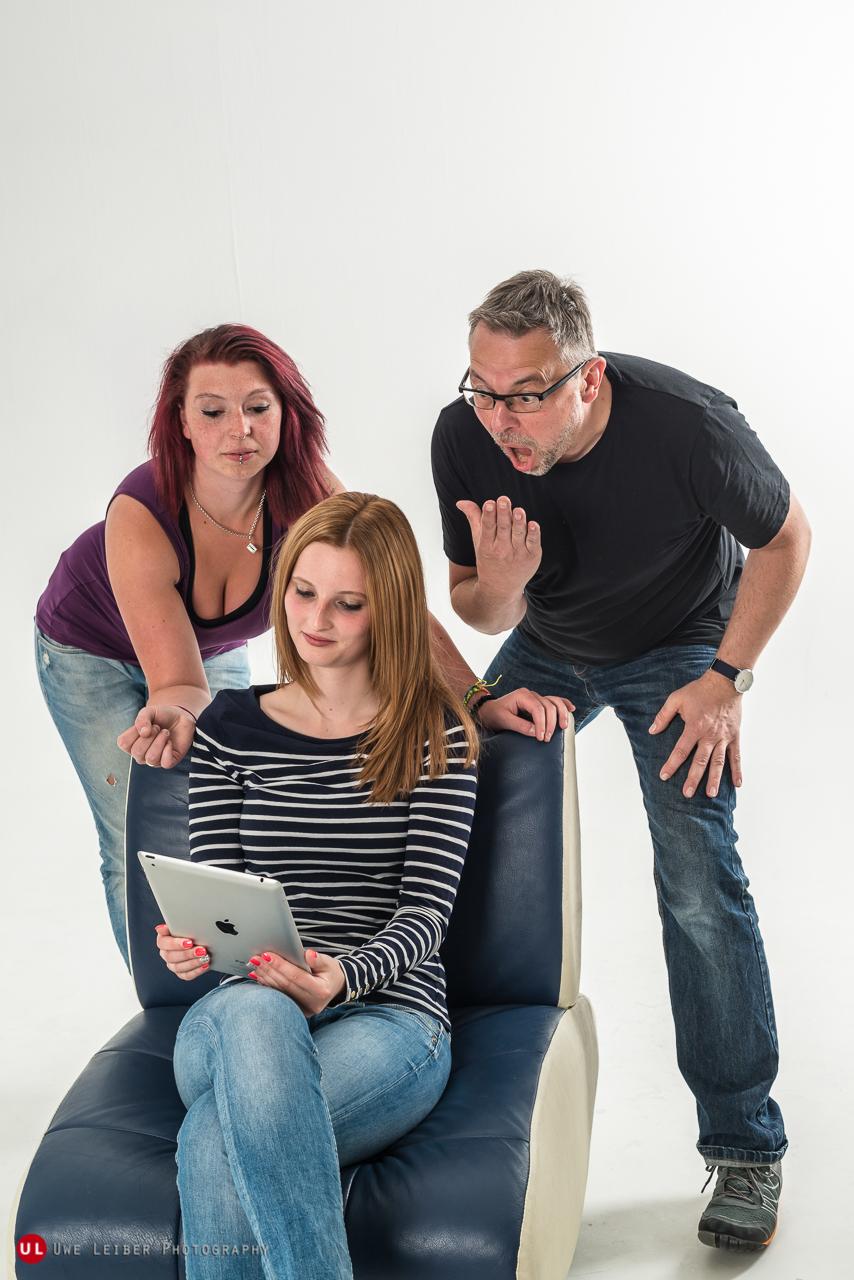 Julia, Jessica , Uwe (l-r)